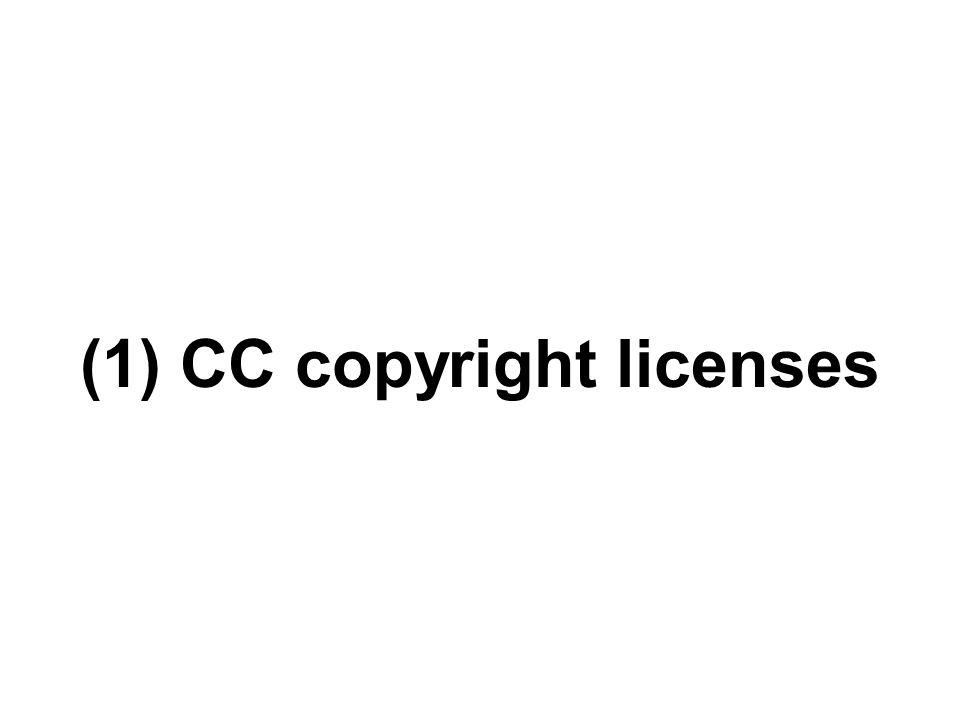 (1) CC copyright licenses