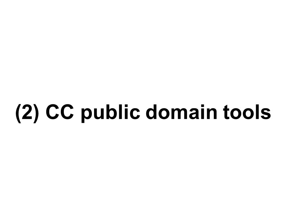 (2) CC public domain tools