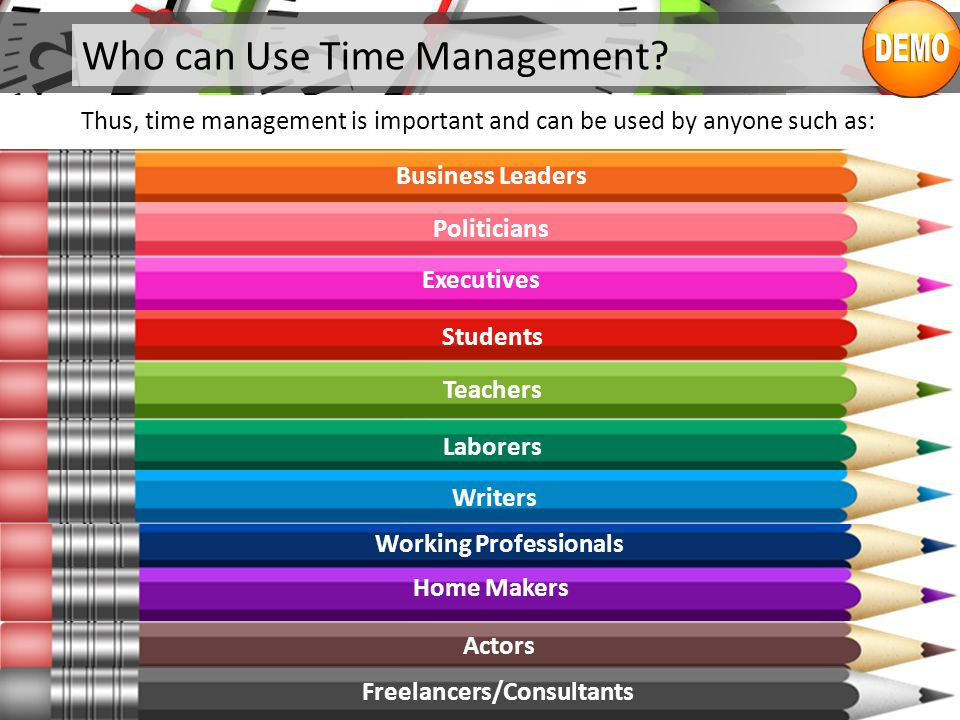 Who can Use Time Management.