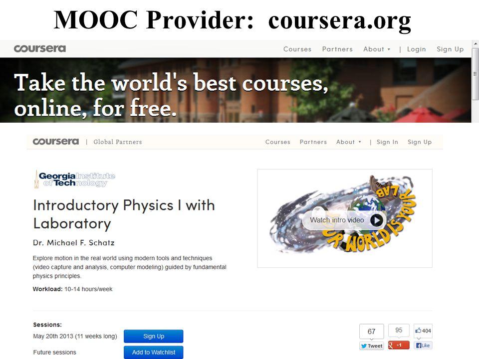 MOOC Provider: coursera.org