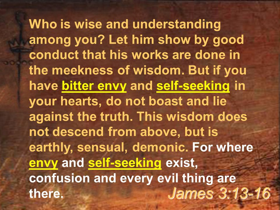 Who is wise and understanding among you.