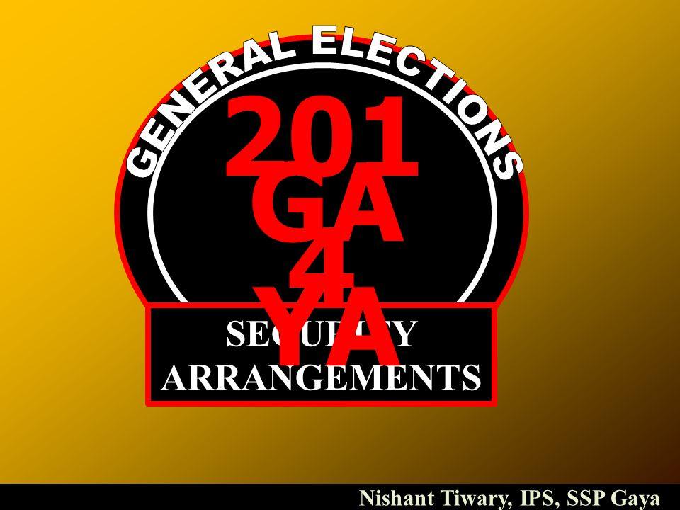 201 4 SECURITY ARRANGEMENTS GA YA Nishant Tiwary, IPS, SSP Gaya