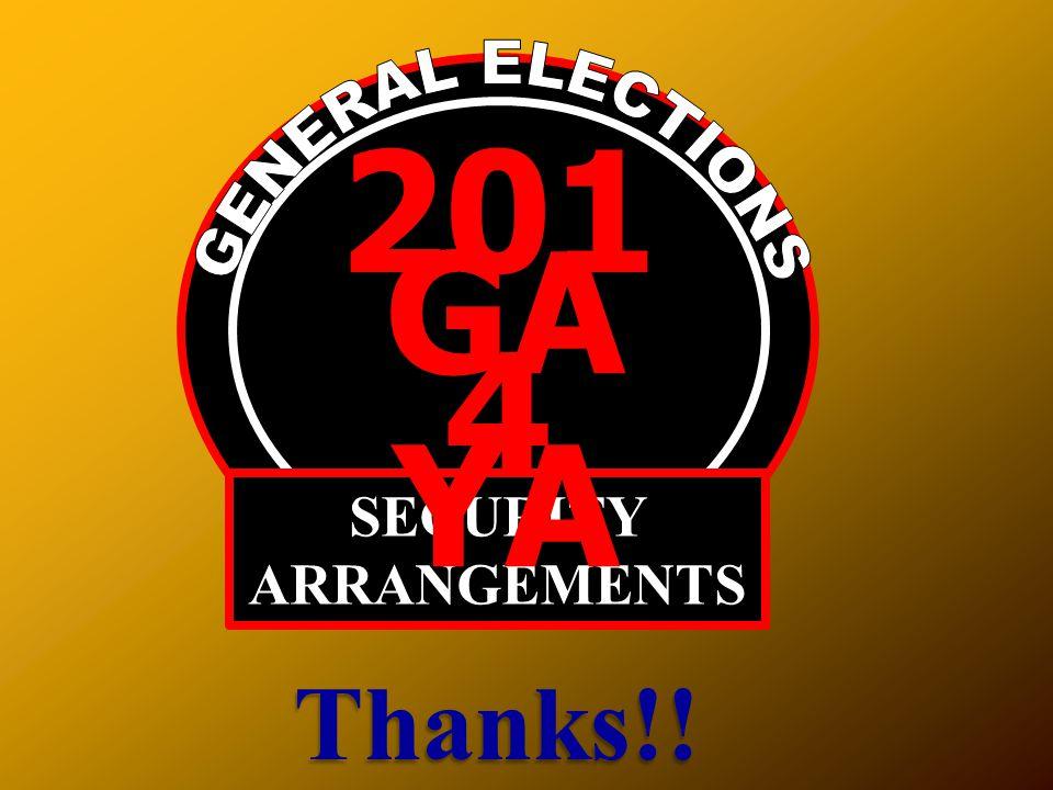 201 4 SECURITY ARRANGEMENTS GA YA Thanks!!