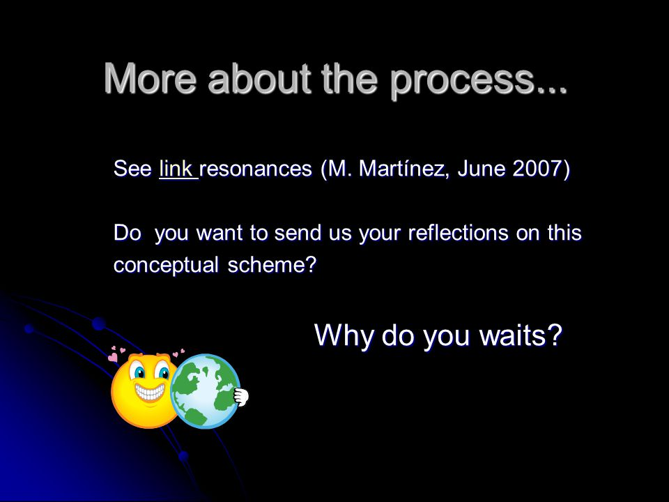 More about the process... See link resonances (M.