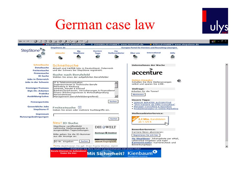 German case law