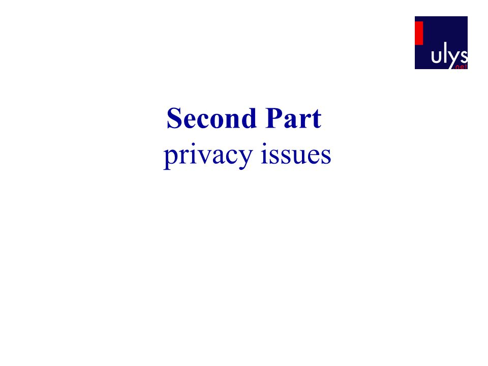 Second Part privacy issues