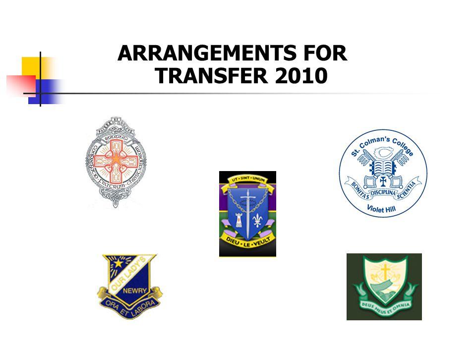 ARRANGEMENTS FOR TRANSFER 2010