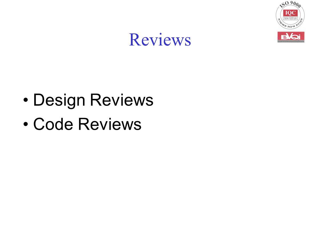 Reviews Design Reviews Code Reviews
