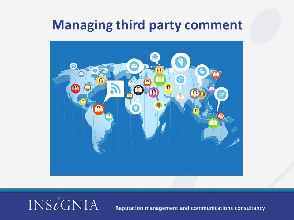 Managing third party comment