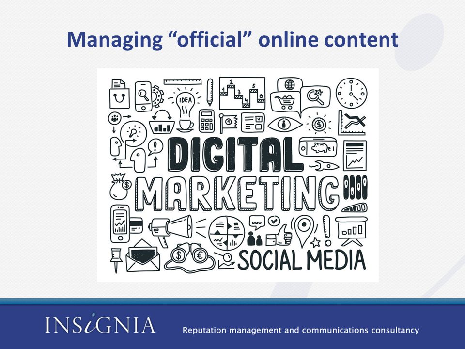Managing official online content