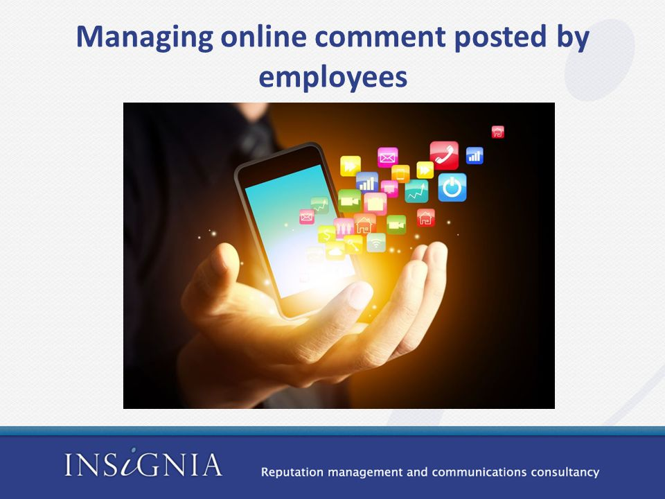Managing online comment posted by employees