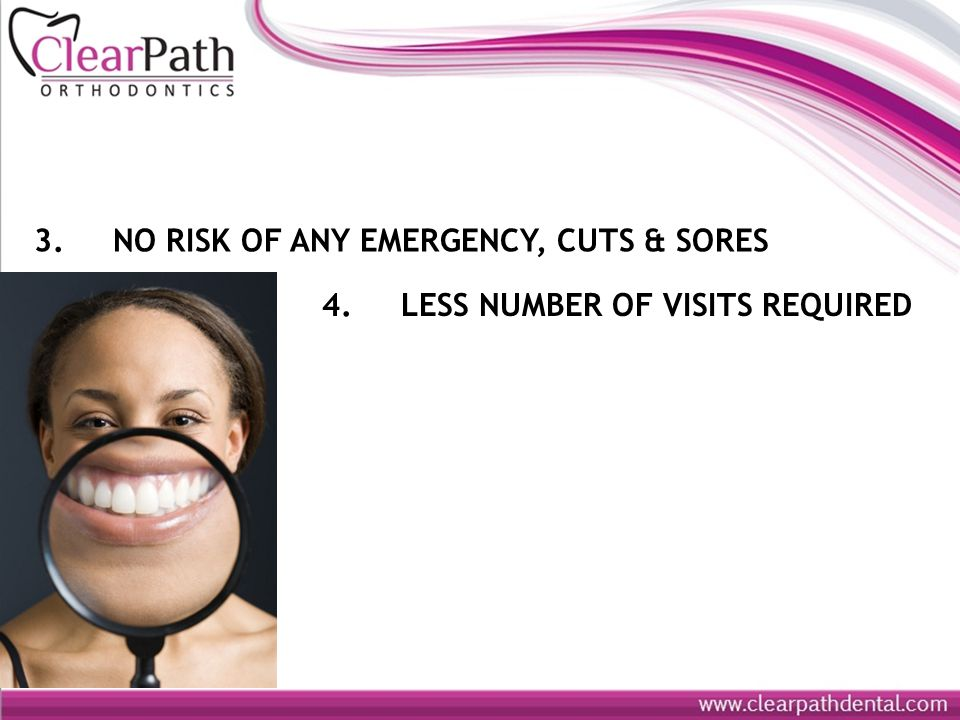 3. NO RISK OF ANY EMERGENCY, CUTS & SORES 4. LESS NUMBER OF VISITS REQUIRED