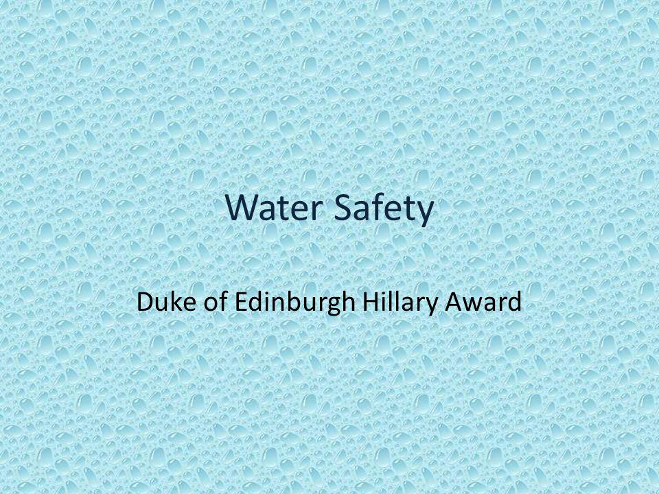 Water Safety Duke of Edinburgh Hillary Award