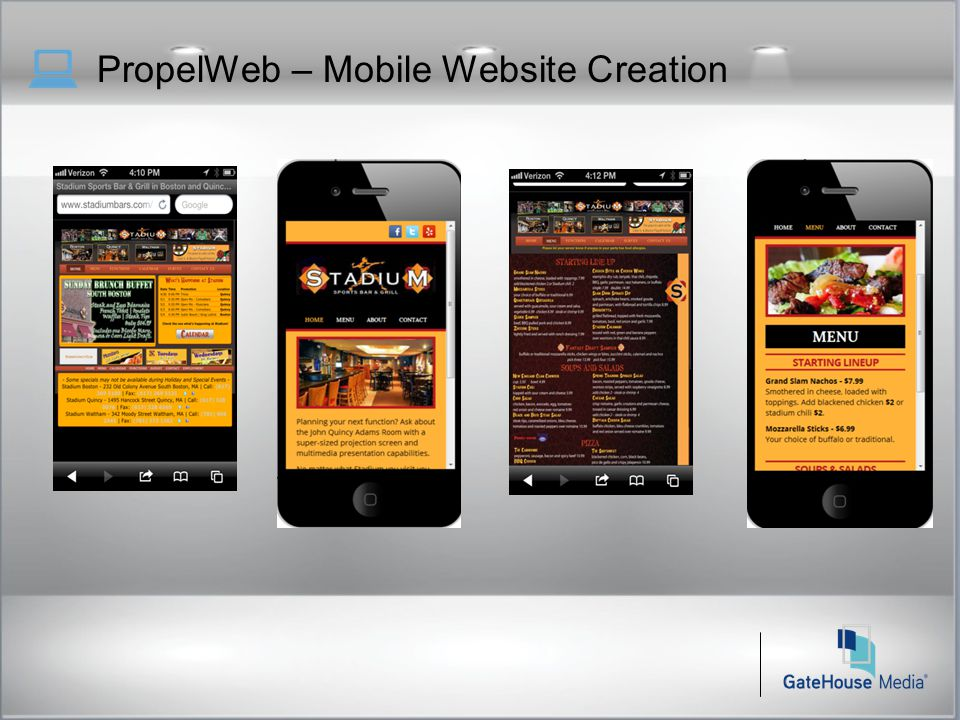 PropelWeb – Mobile Website Creation