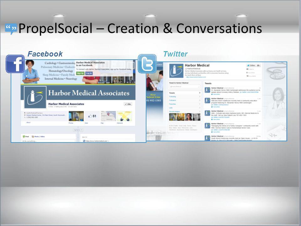 PropelSocial – Creation & Conversations FacebookTwitter