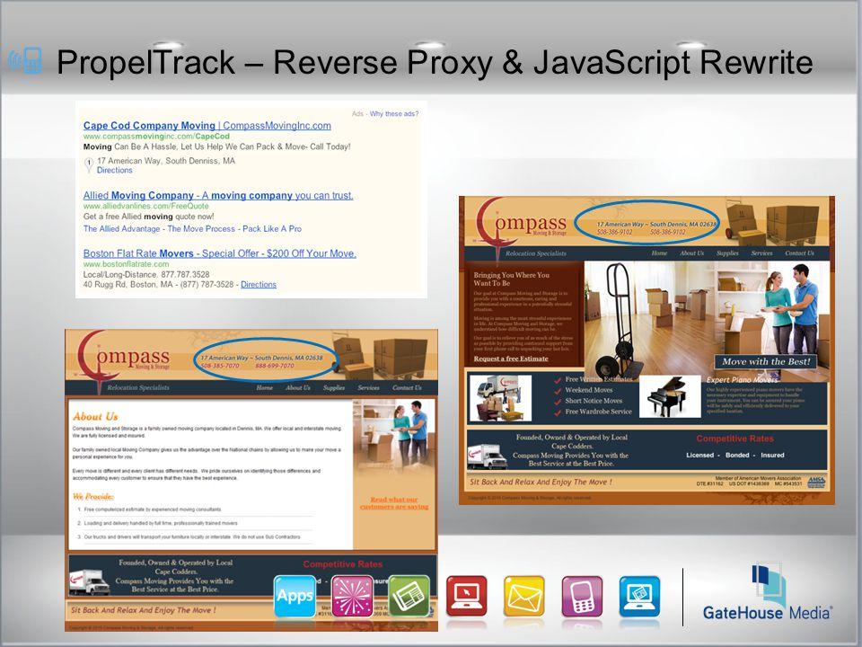 PropelTrack – Reverse Proxy & JavaScript Rewrite