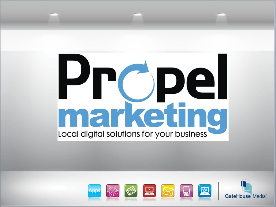 Propel Marketing: Background Customer facing solutions: email, reputation and presence management, websites, social marketing, calendaring/appointment-setting Performance-based commerce: pay-per-click, deals, couponing Online/ digital media: mobile, social, online directories, online display, digital outdoor Advertising & Marketing Spend By U.S.