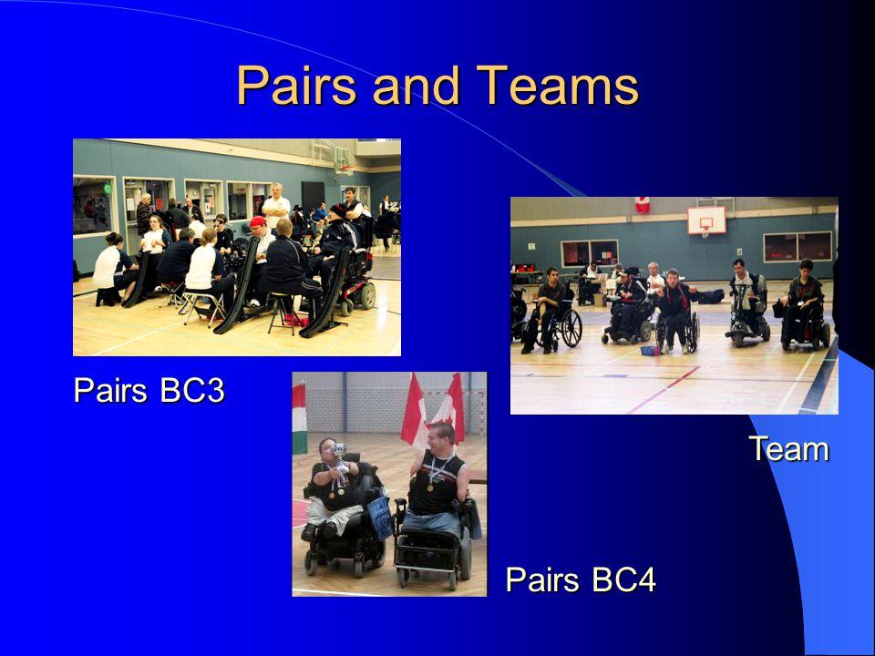 Pairs and Teams Pairs BC3 Team Pairs BC4