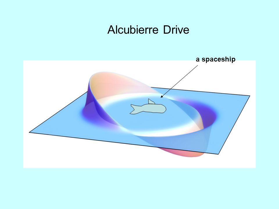 Alcubierre Drive a spaceship