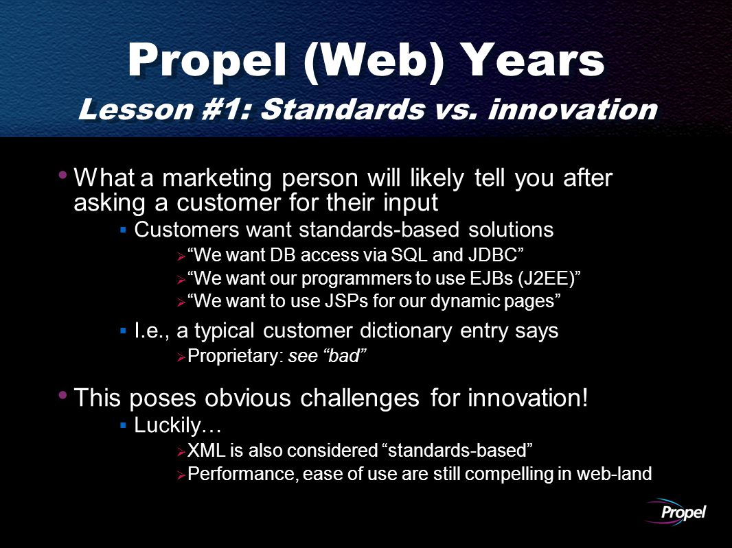 Propel (Web) Years Lesson #1: Standards vs.