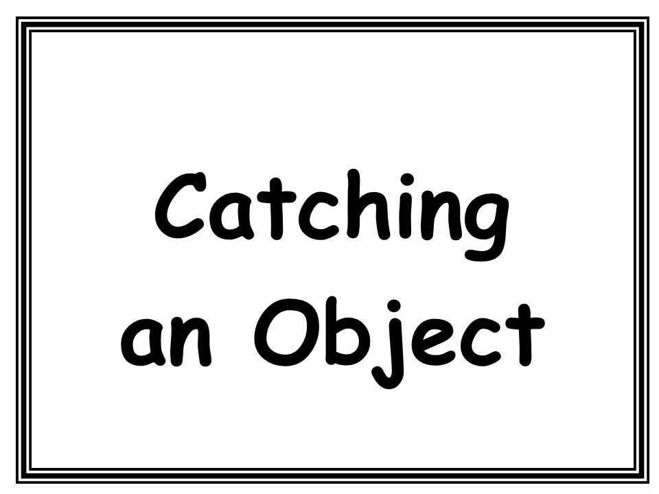 Catching an Object