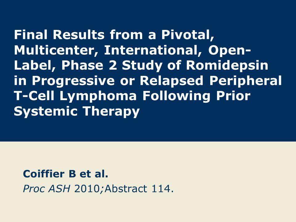 Coiffier B et al.Proc ASH 2010;Abstract 114.
