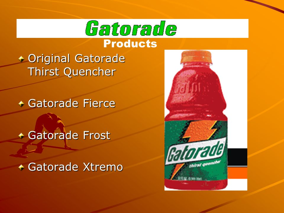 Original Gatorade Thirst Quencher Gatorade Fierce Gatorade Frost Gatorade Xtremo Products