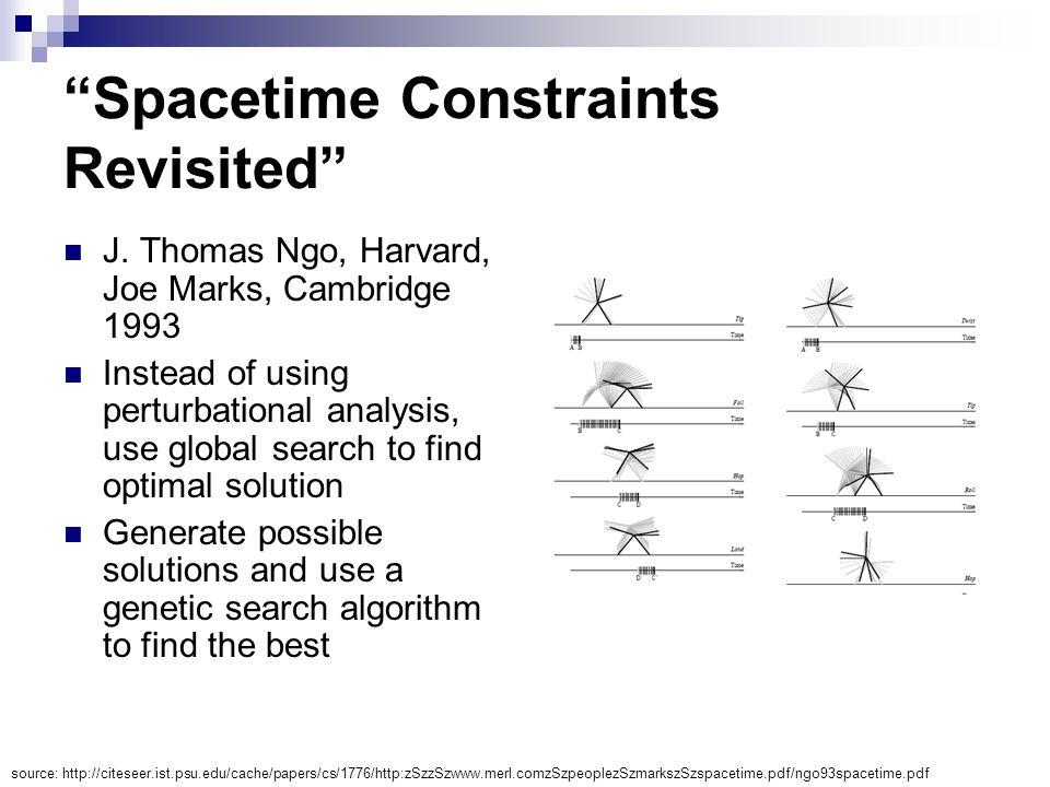 Spacetime Constraints Revisited J.