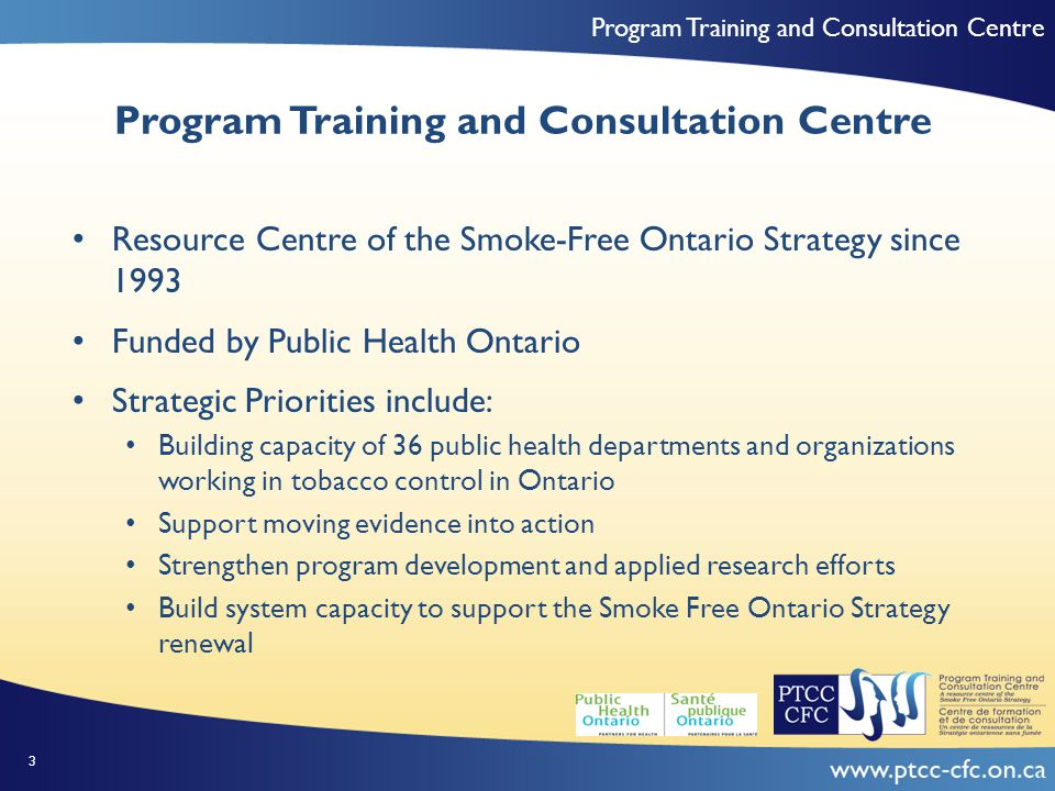 Program Training and Consultation Centre Importance of Social Capital Empowerment: Networking and learning what others are doing and see that the work that we are doing here (in our health unit) is very similar to work that's been done around the province (increases) the comfort factor that yes, we're on the right track…Let's keep going down this road Knowledge Use: when you trust your coworkers and their opinions…you're going to go to them for more information and more likely of giving their ideas a shot 44