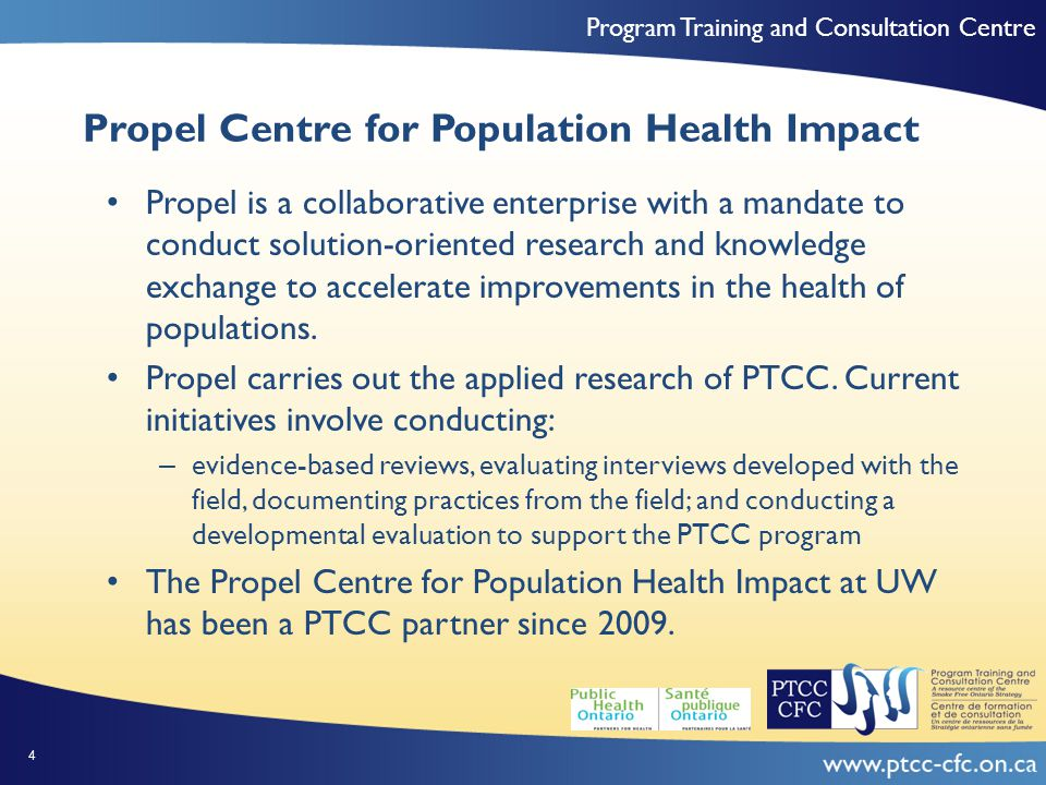 Program Training and Consultation Centre Purpose To examine: How PTCC's CoPs were using knowledge gained from the CoP How PTCC's CoPs were developing with respect to shared identity, member identification, social capital and psychological safety The importance of above concepts in CoP context and why The mechanisms or factors that CoP offers help to strength cohesion and knowledge use Member satisfaction with the CoP and areas of improvement The value add members gained by participating in the CoP 25