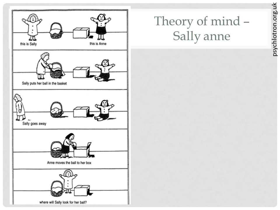 psychlotron.org.uk Theory of mind – Sally anne