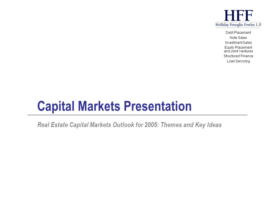 Dynamics - Flow Forces G-I-Normous capital flow into commercial real estate continues to propel pricing amidst scarcity of supply of investment- grade product.