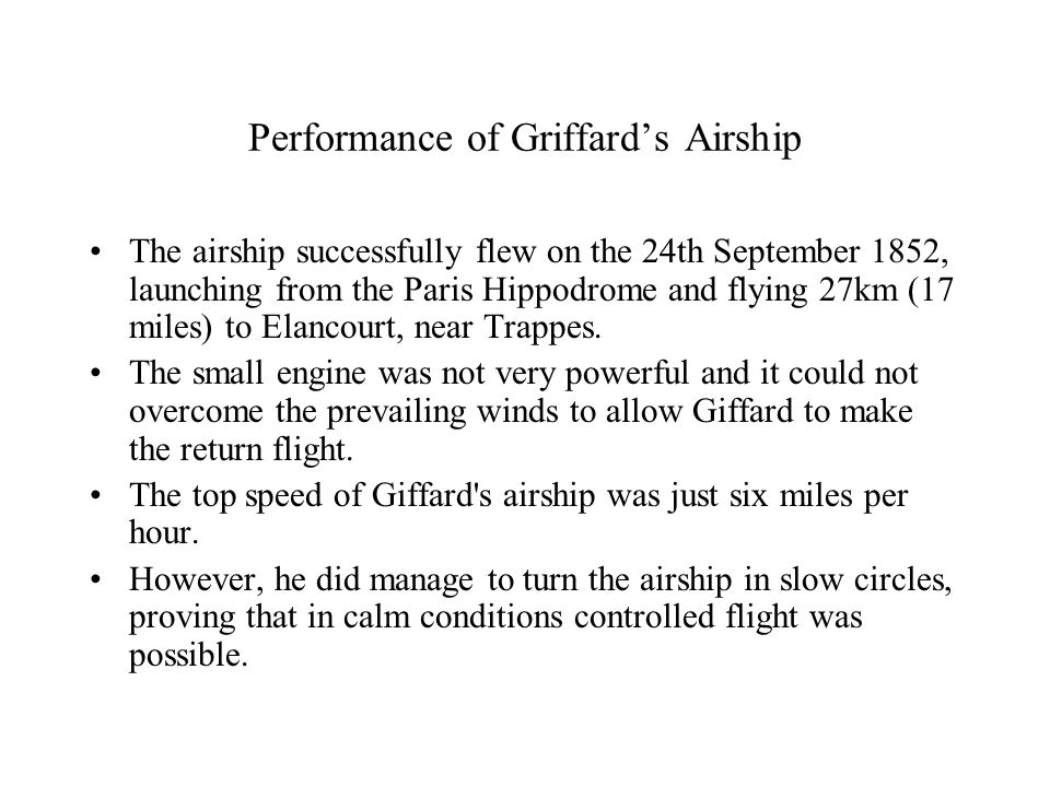 Giffard's Air Ship