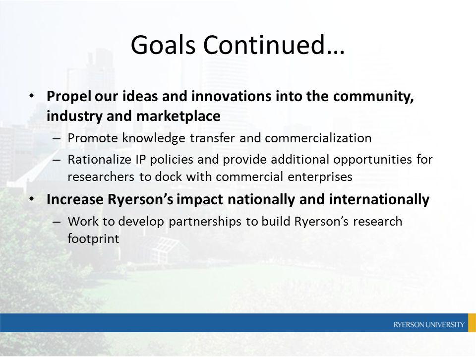 Commercialization Steven Martin – (416) 979-5000 x-2792 – steven.martin@ryerson.ca steven.martin@ryerson.ca