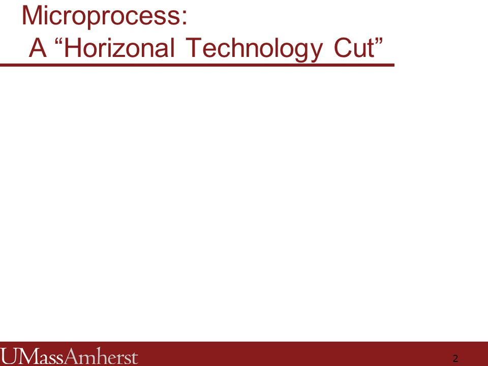 2 Microprocess: A Horizonal Technology Cut