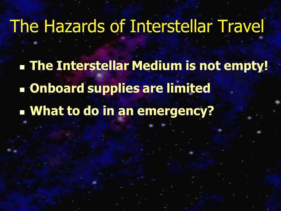 The Hazards of Interstellar Travel The Interstellar Medium is not empty.