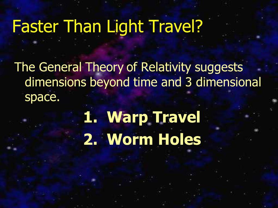 Faster Than Light Travel.