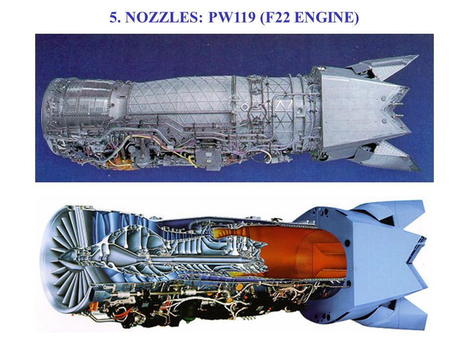 5. NOZZLES: PW119 (F22 ENGINE)