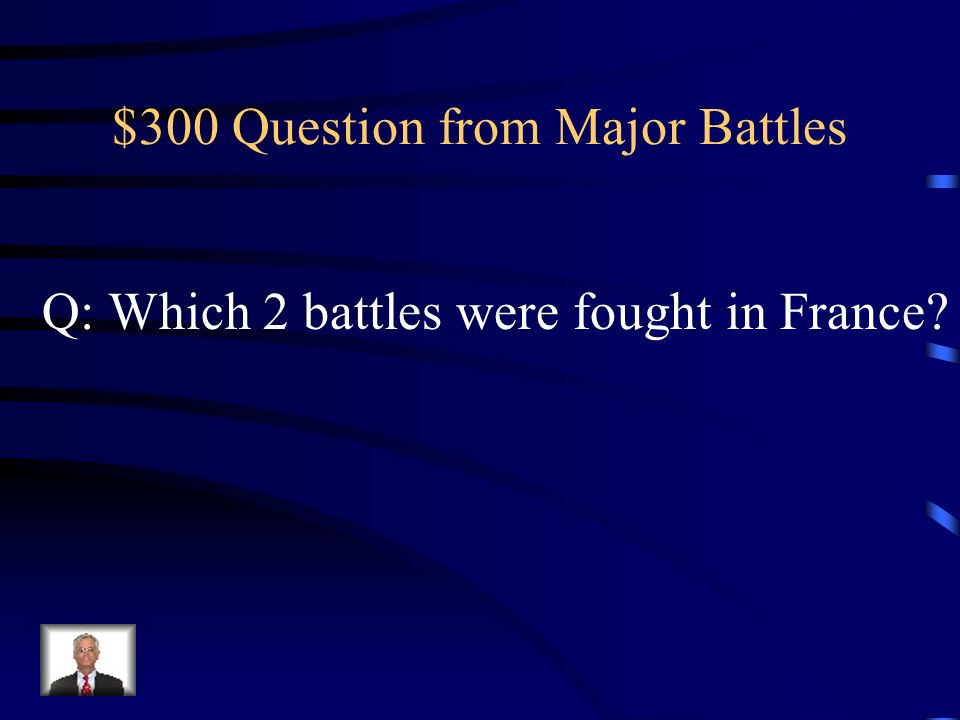 $200 Answer from Major Battles A: Battle of Vimy Ridge