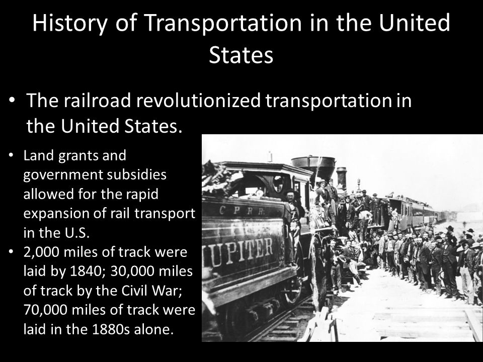 By 1910, rail travel accounted for 95% of all intercity transportation.