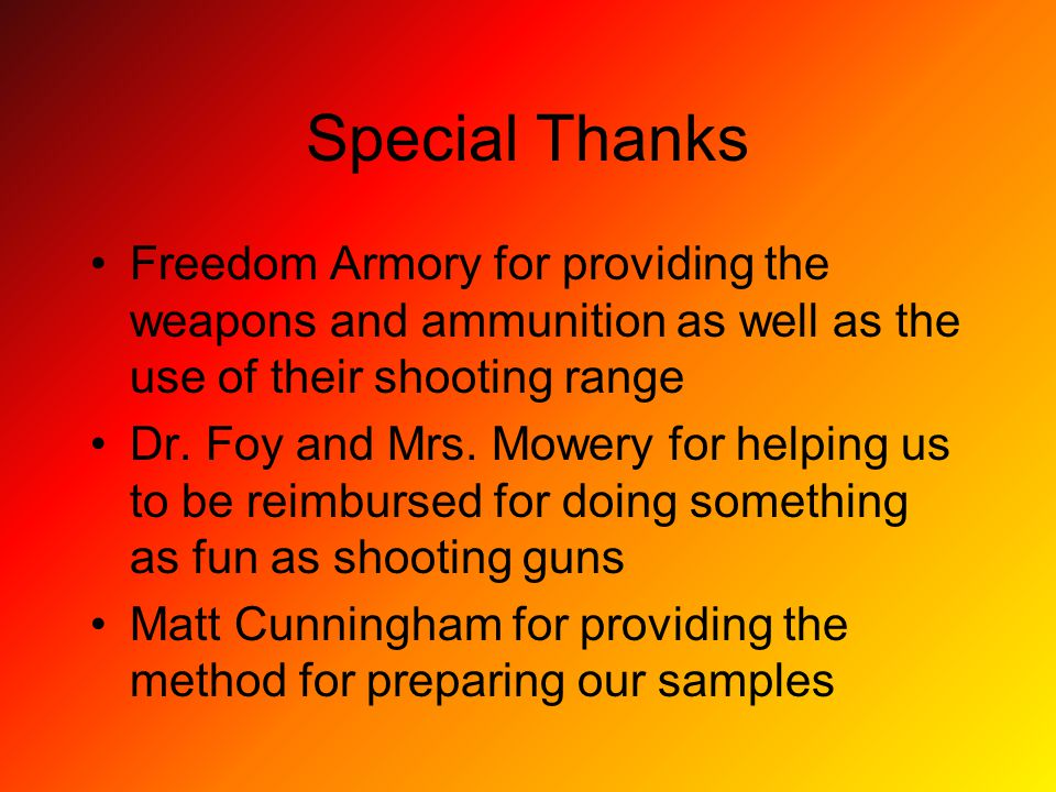 Special Thanks Freedom Armory for providing the weapons and ammunition as well as the use of their shooting range Dr.