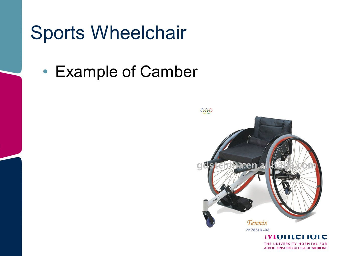Sports Wheelchair Example of Camber