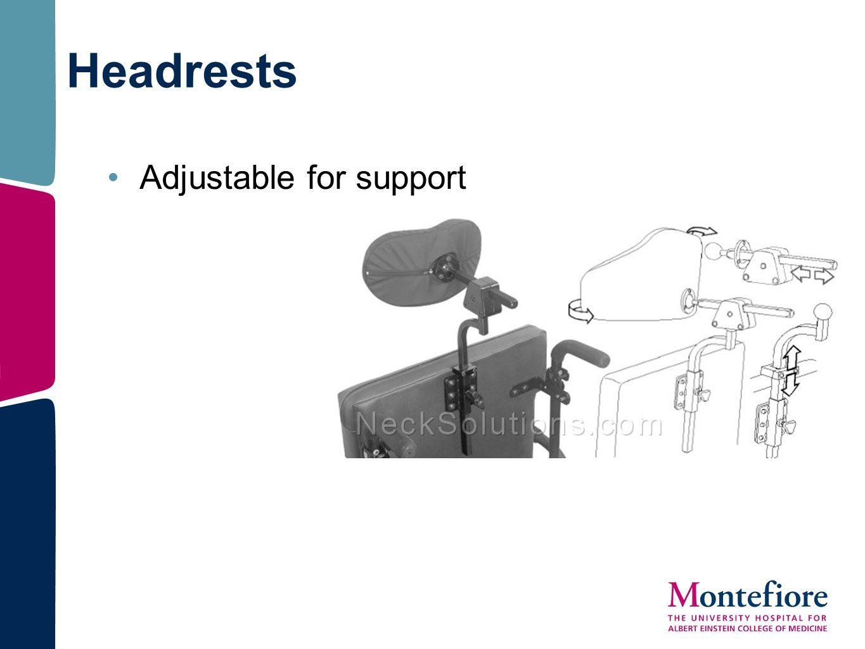 Headrests Adjustable for support