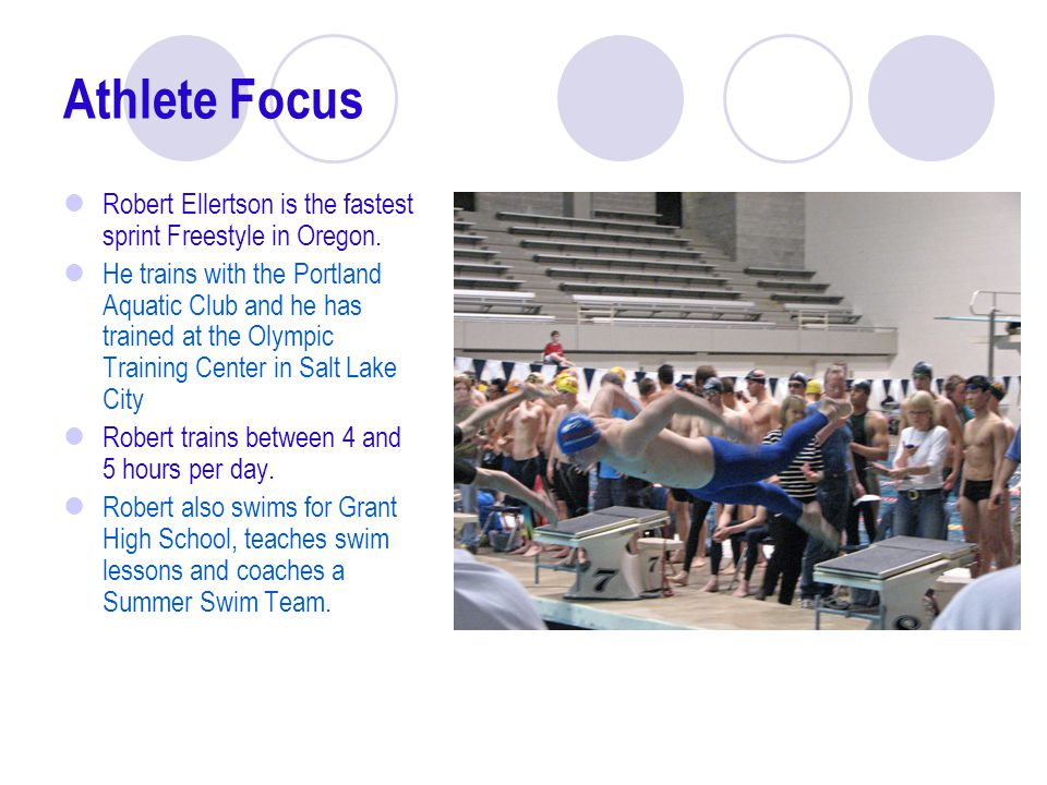 Athlete Focus Robert Ellertson is the fastest sprint Freestyle in Oregon.