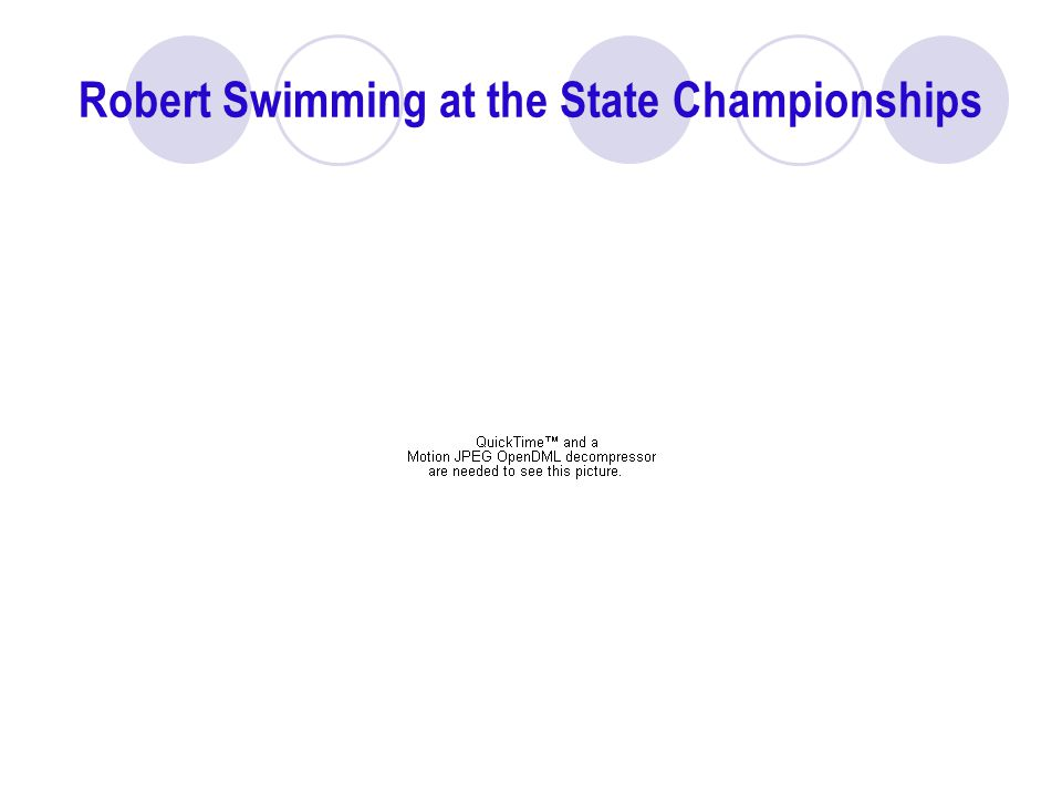 Robert Swimming at the State Championships