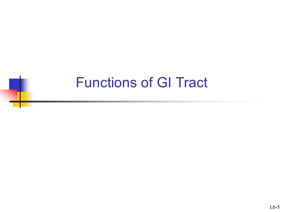 Functions of GI Tract 18-5