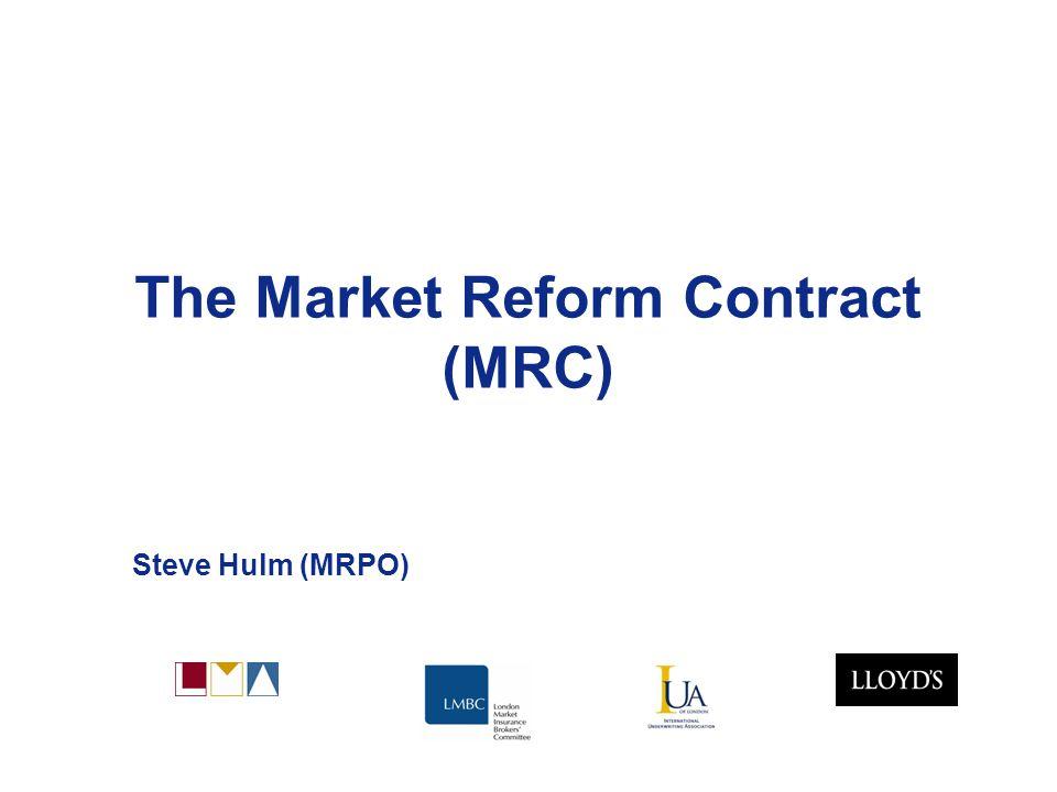 Market Reform 12 Key Changes – Security Details (LMA3333) Establishes several liability of each (re)insurer.