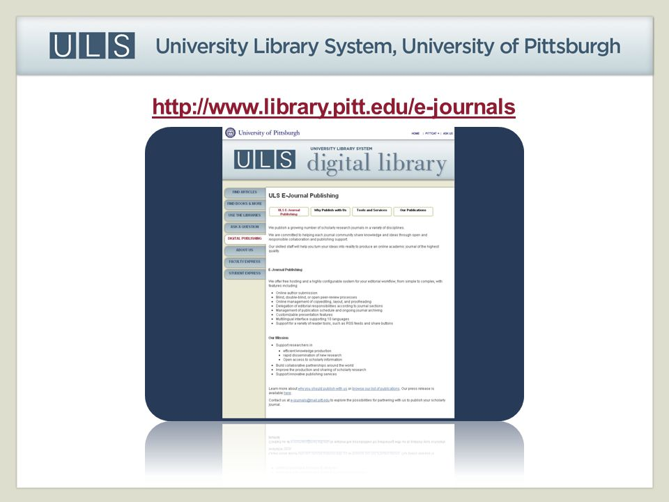 http://www.library.pitt.edu/e-journals