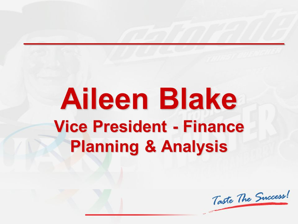 Aileen Blake Vice President - Finance Planning & Analysis