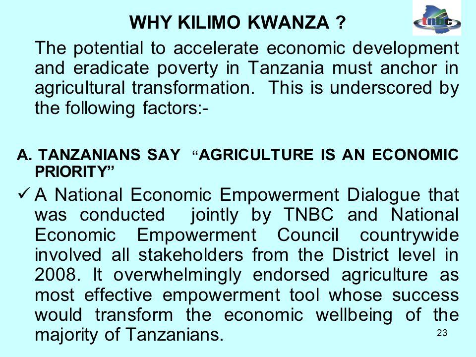 23 WHY KILIMO KWANZA .